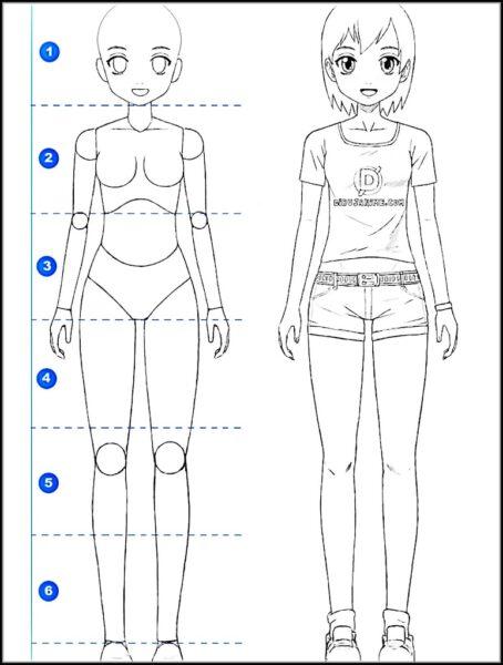 Cách vẽ anime nữ