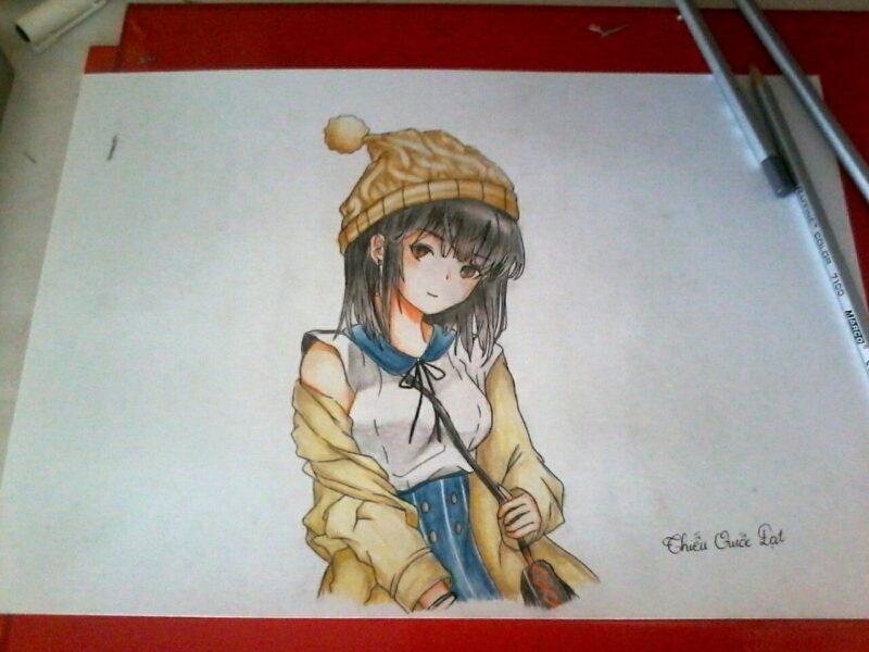 Cách vẽ anime nữ cute
