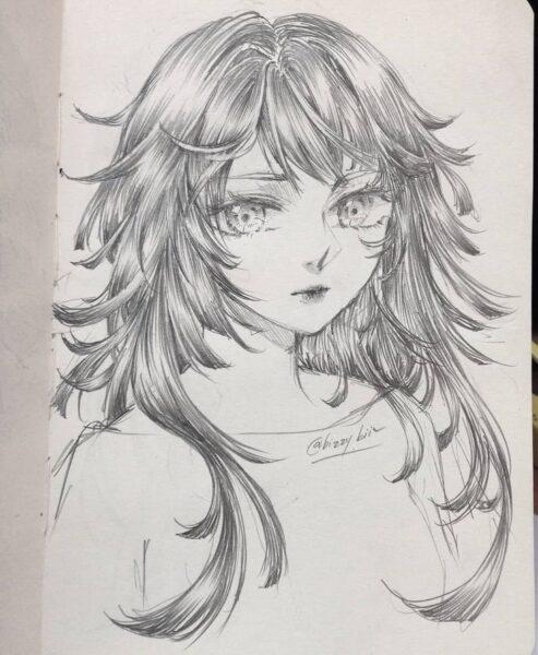 Cách vẽ anime nữ đẹp bằng bút chì