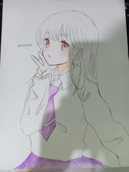 Cách vẽ anime nữ sinh