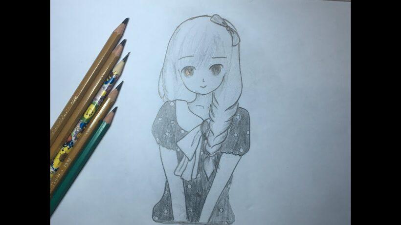 Cách vẽ anime nữ tết tóc
