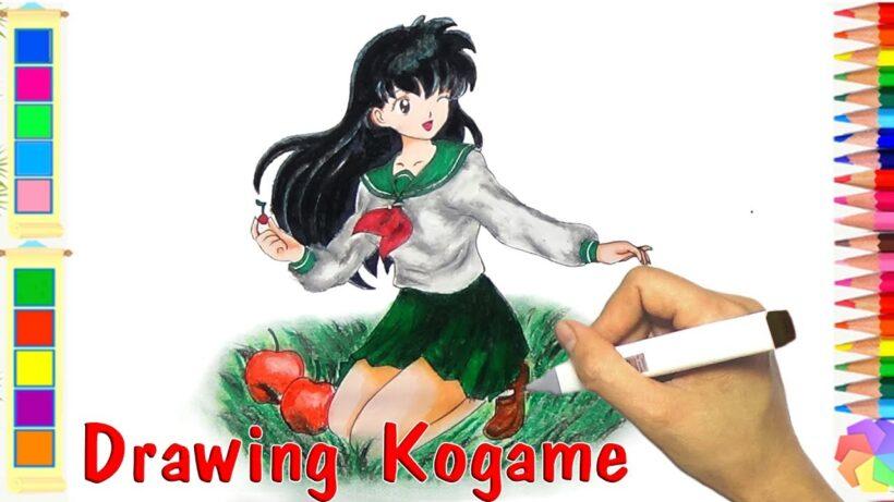 Cách vẽ anime nữ và tô màu