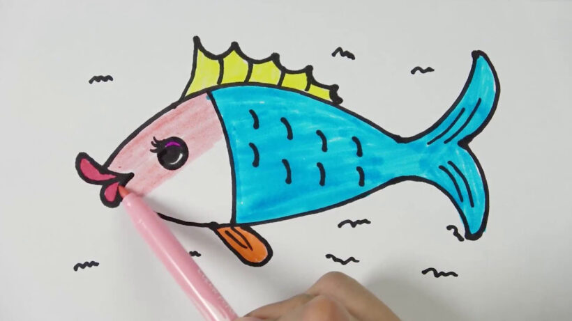 Cách vẽ Cá Chép đơn giản, dễ vẽ