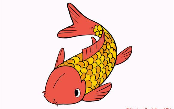 Cách vẽ Cá Chép đơn giản, đẹp nhất