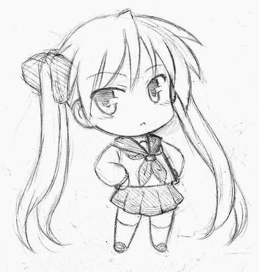 Cách vẽ Chibi bằng bút chì