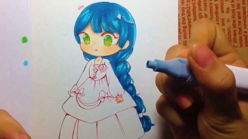 Cách vẽ Chibi công chúa dễ thương