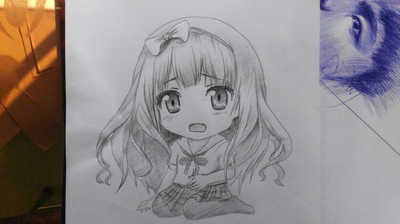 Cách vẽ Chibi dễ thương bằng bút chì
