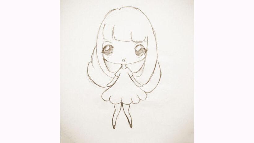 Cách vẽ Chibi girl đơn giản