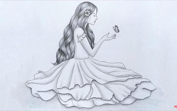 Cách vẽ cô gái dễ thương, đơn giản mà đẹp