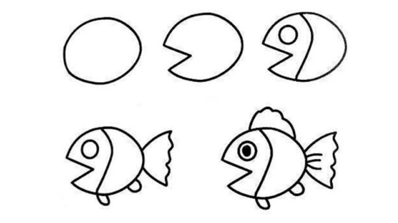 Cách vẽ con Cá