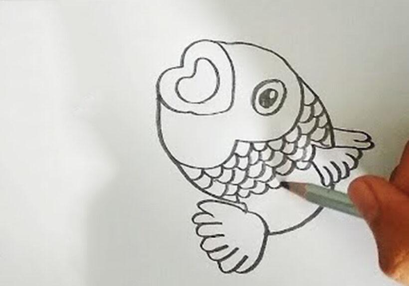 Cách vẽ con Cá Chép đơn giản nhất
