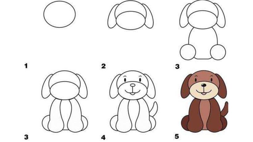 Cách vẽ con chó quen thuộc