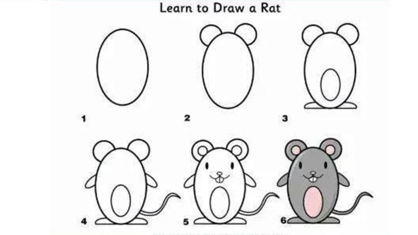 Cách vẽ con chuột