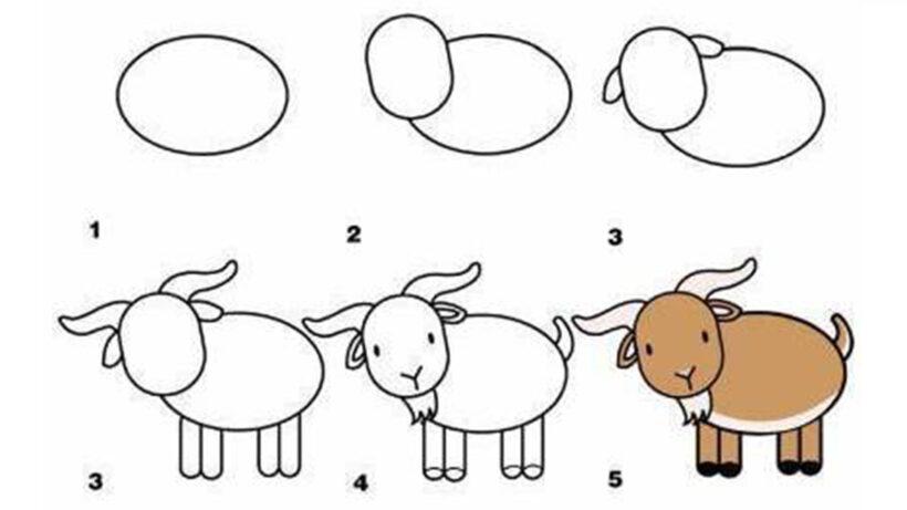 Cách vẽ con Dê