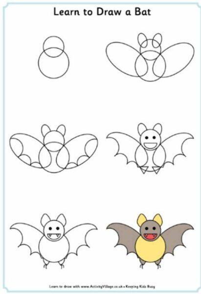 Cách vẽ con Dơi