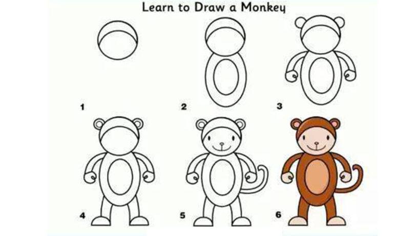 Cách vẽ con Khỉ