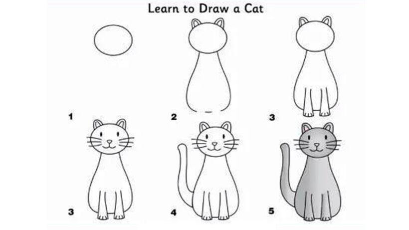 Cách vẽ con mèo