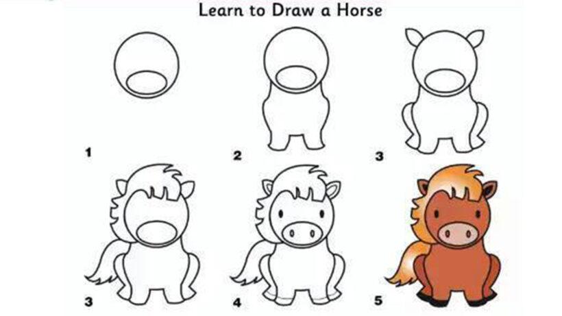 Cách vẽ con Ngựa