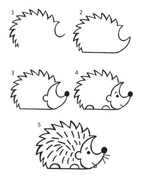 Cách vẽ con Nhím