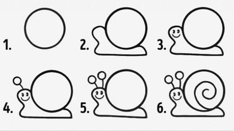 Cách vẽ con Ốc Sên