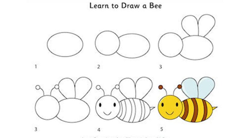Cách vẽ con Ong