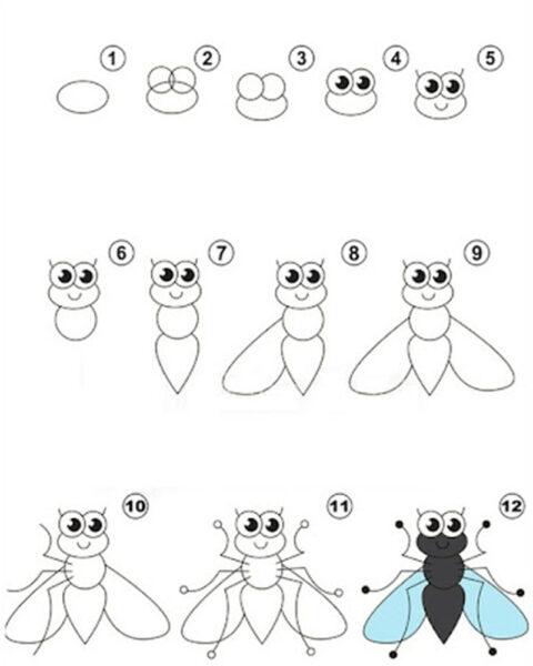 Cách vẽ con Ruồi