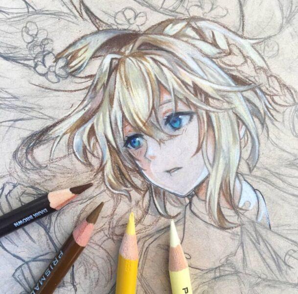Cách vẽ khuôn mặt anime nữ buồn