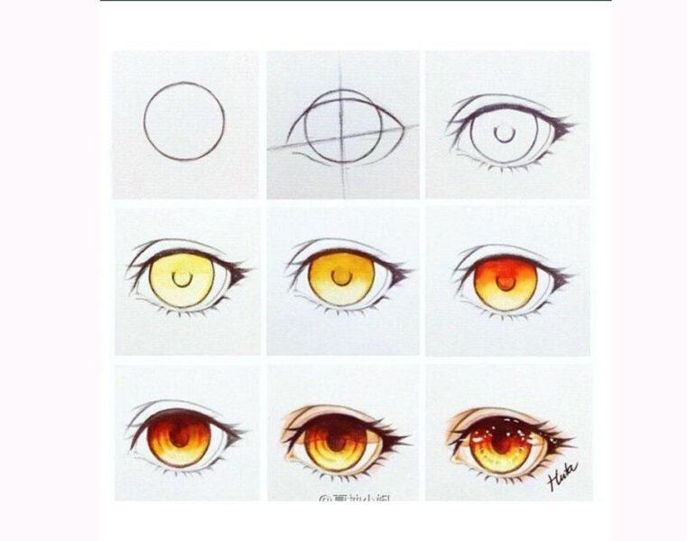 Cách vẽ mắt anime