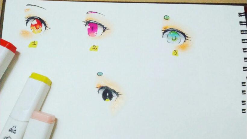 Cách vẽ mắt anime với nhiều màu sắc đẹp