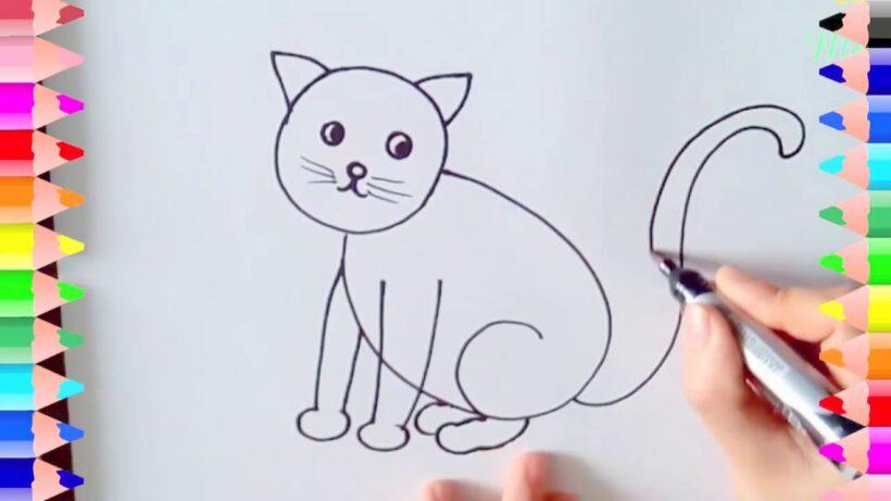 Cách vẽ mèo đơn giản