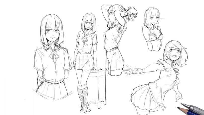 Cách vẽ những anime nữ