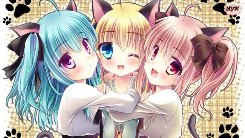 Hình ảnh 3 đứa bạn thân anime