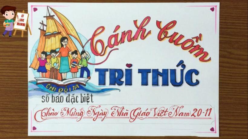 Hình ảnh báo tường chào mừng ngày Nhà Giáo Việt nam 20 11