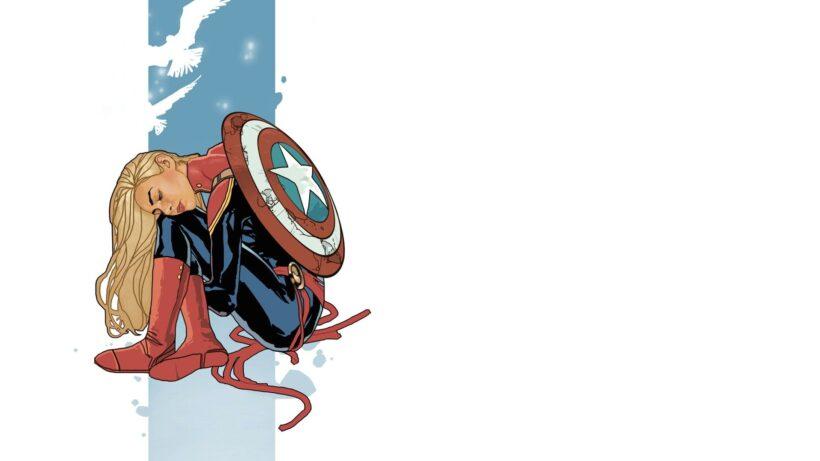 Hình ảnh Captain Marvel buồn