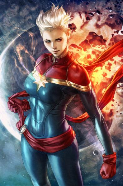 Hình ảnh Captain Marvel hùng mạnh
