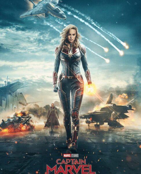 Hình ảnh Captain Marvel và cảnh chiến trận