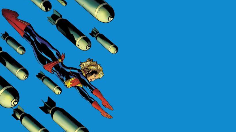 Hình ảnh Captain Marvel và đạn bay
