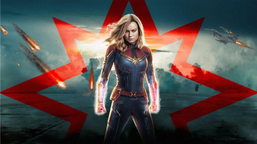 Hình ảnh Captain Marvel và mưa lửa
