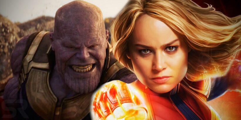 Hình ảnh Captain Marvel và Thanos