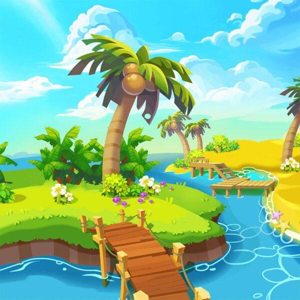 Hình ảnh cây dừa hoạt hình