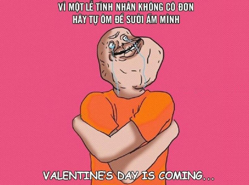 Hình ảnh chế Valentine buồn hài hước