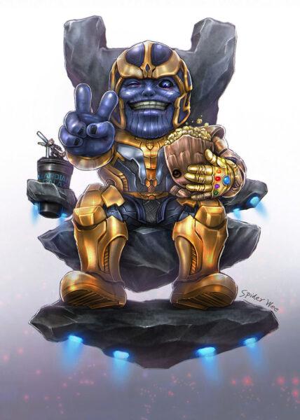 Hình ảnh chibi Thanos cute