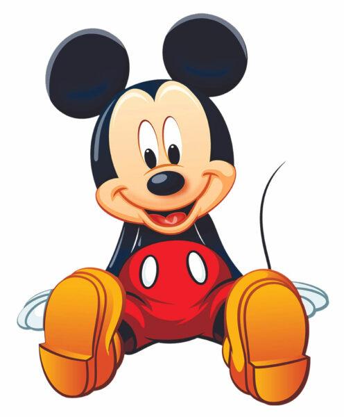 hình ảnh chuột mickey dễ thương đang ngồi