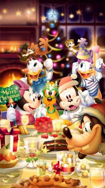 hình ảnh chuột mickey dễ thương đón giáng sinh