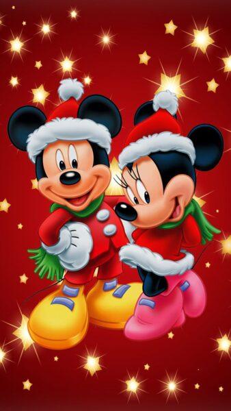 hình ảnh chuột mickey dễ thương đón noel