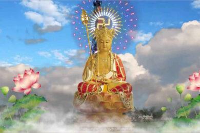 Hình ảnh Địa Tạng Bồ Tát toả hào quang đẹp, chất lượng cao