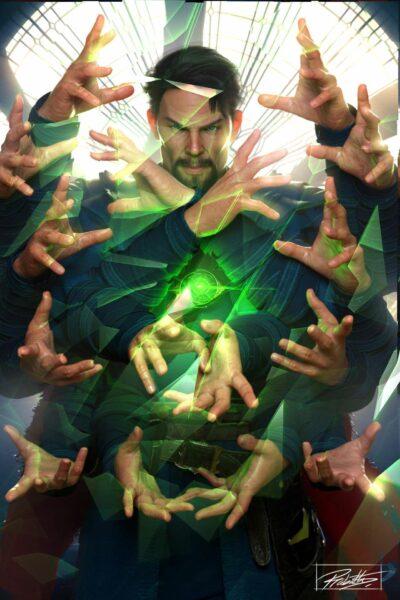 Hình ảnh Doctor Strange với phép thuật