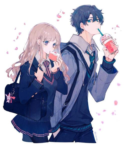 Hình ảnh đôi bạn thân anime khác giới