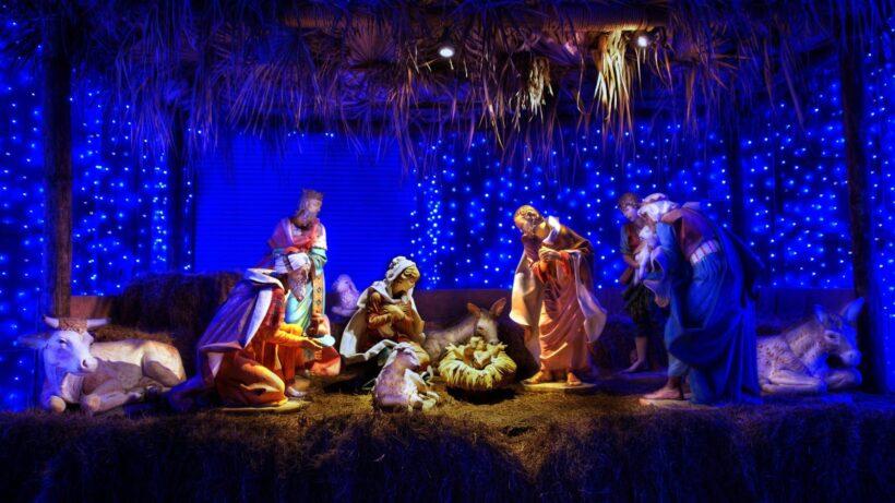 Hình ảnh hang đá Giáng Sinh đẹp lung linh