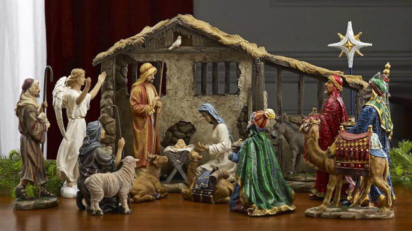 Hình ảnh hang đá Giáng Sinh trong nhà
